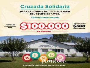 O'BRIEN Y UNA CRUZADA SOLIDARIA PARA DIGITALIZAR EL EQUIPO DE RAYOS DE UNIDAD SANITARIA.