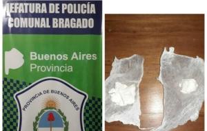 EN PROCEDIMIENTO EN RUTA 5 LA POLICIA DETUVO A UNA PERSONA QUE TENÍA COCAINA EN SU PODER