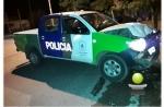 TRATANDO DE EVADIR UN CONTROL POLICIAL CHOCO Y OCASIONO SERIOS DAÑOS A UN PATRULLERO