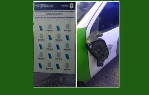 LA POLICIA INTERVINO EN UNA REYERTA CALLEJERA Y DAÑARON EL PATRULLERO