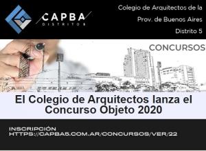 EL COLEGIO DE ARQUITECTOS LANZA EL CONCURSO OBJETO 2020