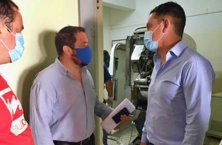AVANZAN LAS TAREAS PARA LA PUESTA EN FUNCIONAMIENTO DEL TOMÓGRAFO EN EL HOSPITAL MUNICIPAL