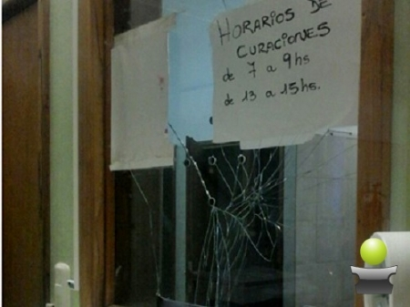 UN JOVEN CAUSO DAÑOS EN GUARDIA DEL HOSPITAL MUNICIPAL