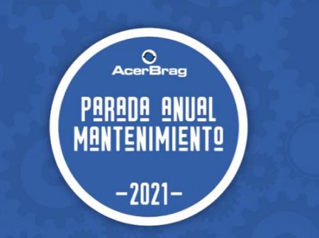 ACERBRAG COMPLETO EXITOSAMENTE LA PARADA ANUAL DE MANTENIMIENTO