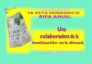 BRALCEC COMENZÓ  A OFRECER SU RIFA ANUAL