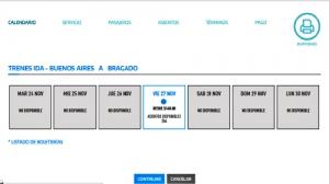TRENES: LOS SERVICIOS DE LARGA DISTANCIA COMENZARÁN A CIRCULAR EL PRÓXIMO LUNES 23 DE NOVIEMBRE