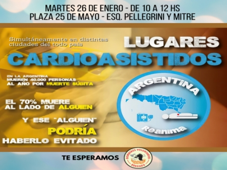 """""""ARGENTINA REANIMA"""": BOMBEROS DE BRAGADO FORMA PARTE DE UNA RED NACIONAL"""