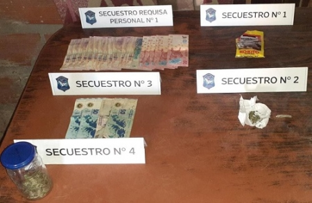 LA POLICIA ALLANO UN DOMICILIO DE CALLE SALTA EN UNA CAUSA POR DROGAS